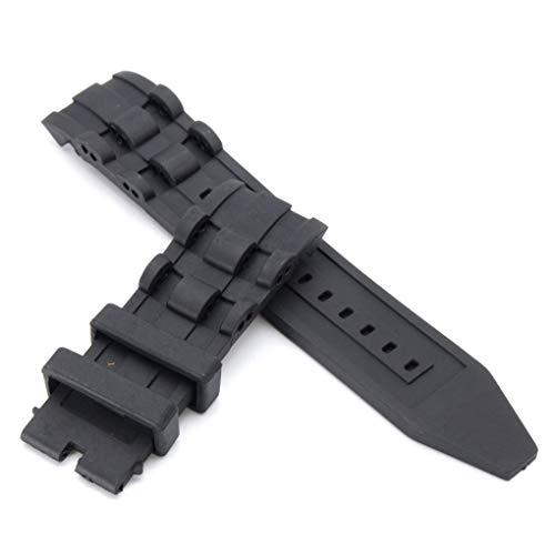Bracelet de Montre en Caoutchouc Noir de 26mm pour Plongeur Invicta Pro 6977-6978-6981-6983