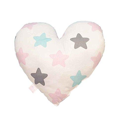 Focus Herz-Form-Baby-Kissen weich neugeborene Kind-Baumwolle Dekokissen Kissen für Kinderraum Bettwäsche Dekoration bunt