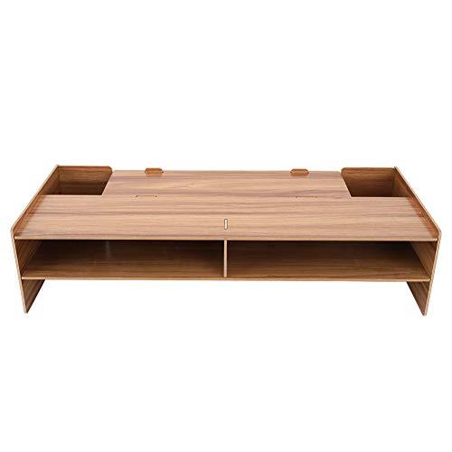 er,Schreibtischaufsatz,Computer Desktop Schreibtisch Tischhalterung für Büros/Schreibtisch/Schlafzimmer/Arbeitszimmer,Kompatibel mit 7.5 * 7.5cm kleinem Raum(Kirschholz) ()