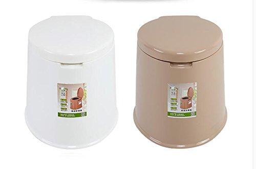sizll Sitz WC Schwangere-Rutsch Tragbare Toilette Badezimmer Möbel für die älteren Kunststoff alt Kraftstation Hantelbank weiß