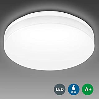 LE Bathroom LED Ceiling Light, 100W Equivalent, 15W 1250lm, Daylight White, Waterproof IP54, Modern, Flush Mount