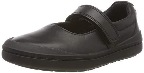 Clarks Rock Spark K, Bailarinas para Niñas, Negro Black Leather, 30 EU
