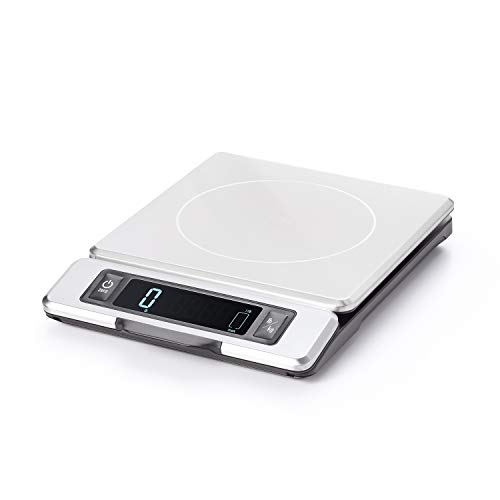 OXO Good Grips 11Pfund Edelstahl Lebensmittel Maßstab mit Ausziehbares Display (Oxo-digital-skala)