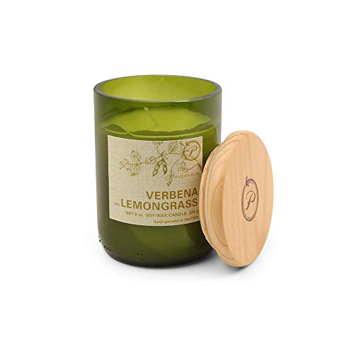 Paddywax Eco Green Soy Wax Candle with 8-Ounce Recycled Glass Fill,  Mediterranean Rosemary and Citrus