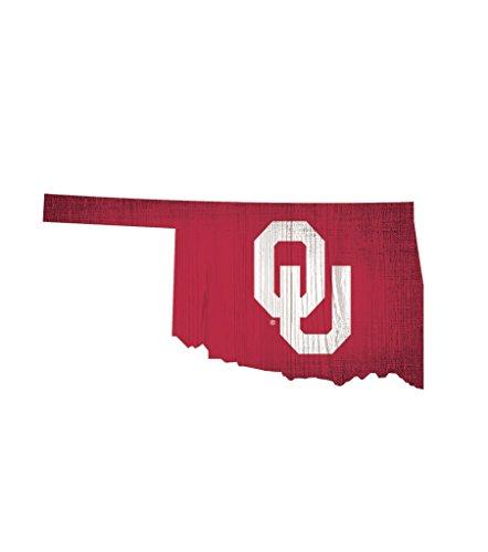 Fan Creations Schild NCAA Holz 30,5cm State Form Design, Oklahoma Sooners -