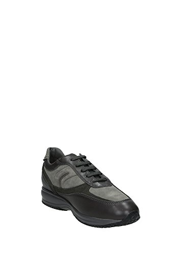 Chaussures de ville, couleur Marron , marque GEOX, modÚle Chaussures De Ville GEOX UOMO HAPPY A Marron Grigio/Fango