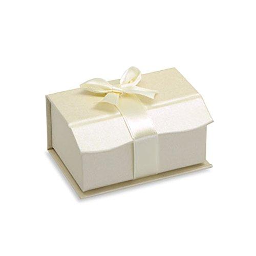 Trauring Eheringe Etui BOX für 2 Ringe Verpackung Juwelier Rubin Creme Ring Case Trauring-etui Trauringbox Wedding Band Ring Cases two Rings Ring Schachtel (Bändchen Teilnehmer)