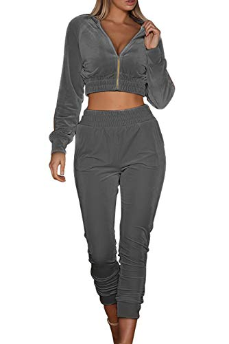 MAGIMODAC Womens Full Velour 2 P...