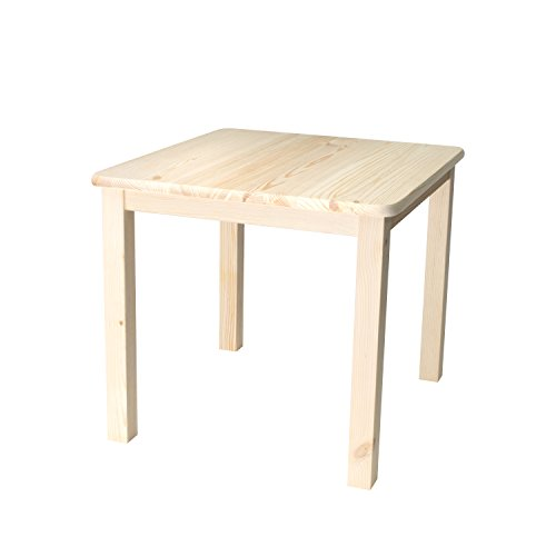 Rabando Kindertisch Unbehandelt Aus Massivholz Holz Kiefer