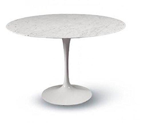 Tavoli.design CM 90 Table Tulip Eero Saarinen Ronde Marbre Carrara