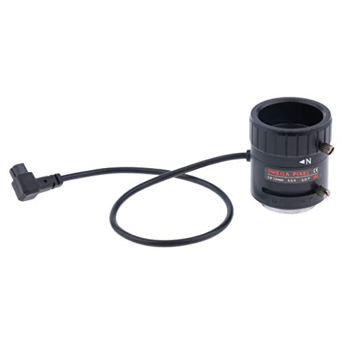 P Prettyia 2,8-12mm F1,4 1/2,7'' Auto IRIS Varifocal CCTV-Objektiv CS-Halterung für CCD Sicherheit-Kamera 10 Mm Auto-iris