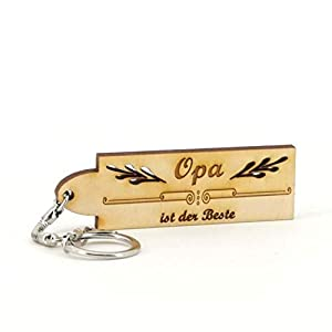 Schlüsselanhänger Opa ist der Beste - Namen - Holz Geburtsgeschenk, Geburtstagsgeschenk, Weihnachtsgeschenk