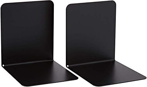 Alco 4302-11 - Reggilibri in metallo, 130 x 140 x 140 mm, 2 pezzi, colore: Nero