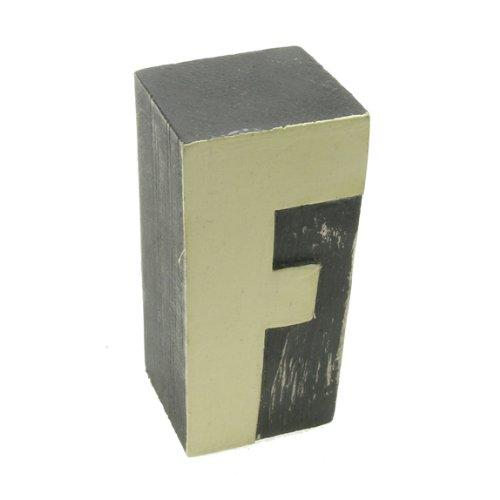 Dipinto a mano in legno con lettere dell'alfabeto, 5 lettere individuali