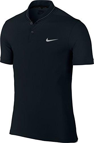 Nike Herren Polo Shirt TR Dry Heather Roll schwarz-Black Anthracite/Flight Silver, S (Polo Golf Nike Dri-fit)
