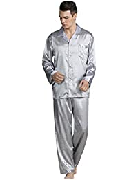 Rosatro Men's Casual Printed Pajamas Set 2 PCS Soft Home Lounge Sleepwear Suit