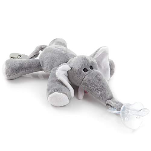Chupete elefante BabyHuggle - Chupeta peluche bebé