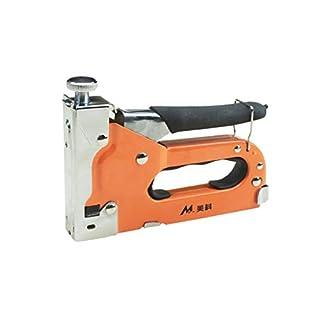 Kleiner Werkzeugtacker Profi Tacker mit Klammern-Sortiment für Holz, Stoff, Möbel und zum elektronische Schlagkraftvorwahl,Hobby-Tacker aus ABS-Kunststoff Von Anney (Mehrfarbig)