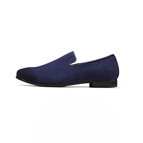 Mocassin Men Loafers Anti-Skid Nonslip Casual Driving Shoes Basic Solid Color Men Shoes Summer`Loafers for Men Blue 10 -