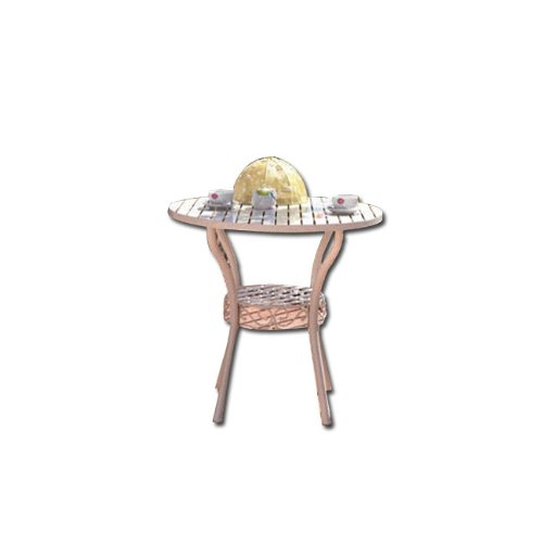 HOMEGARDEN Gartentisch aus Stahl weiß 80x 75rund