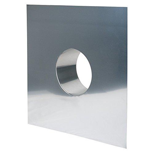 Schornstein, Wandblende 650 x 650 mm, Edelstahl, ø 200 mm (260 mm) Edelstahl glänzend keine Farbe wählbar