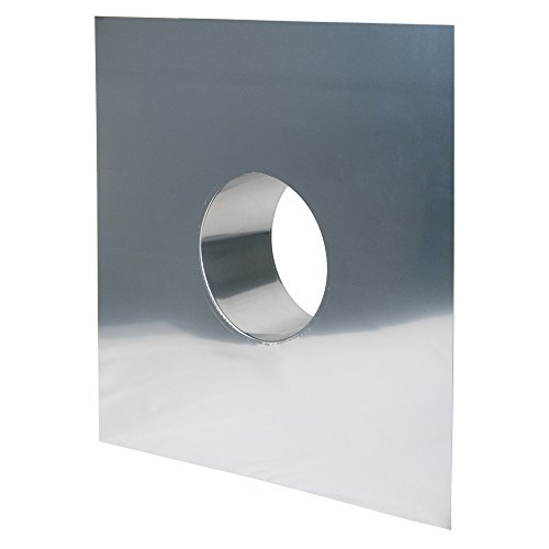 MK sp. Z o.o. Schornstein, Wandblende 630 x 630 mm, Edelstahl, ø 150 mm (210 mm) Edelstahl glänzend keine Farbe wählbar