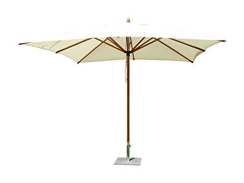 Maffei Art 155q FIBRASOL. Sonnenschirm eckig cm. 300x 300, Polyma Stoff, Fiberglasstiel. Made in Italy. Farbe Natur