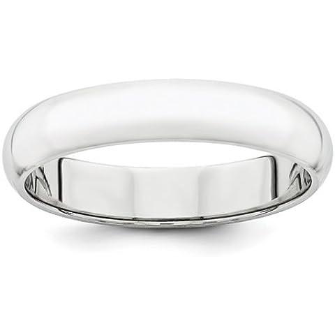 Icecarats Designer Di Gioielli In Platino Dimensione 8 4 Millimetri Semicircolare Anello Band Di Nozze - 8 Millimetri Platinum Wedding Band