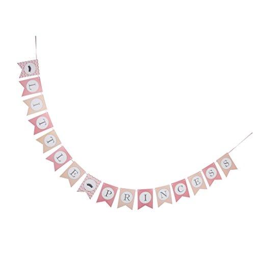 Homyl Schriftzug Girlande aus Papier als Dekoration für Baby Dusche Party - Little Princess, 3 Meter