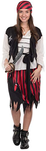 (Brandsseller Damen Kostüm Verkleidung Pirat L)