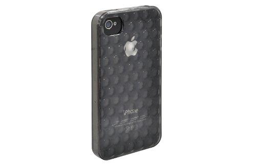 Ozaki iCoat Bubble Circle Etui rigide en plastique TPU avec film protecteur pour iPhone 4 Transparent teinté noir Transparent teinté noir