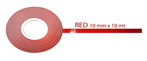 Quattroerre 10170 - Cinta adhesiva, color rojo, 10 mm x 10m