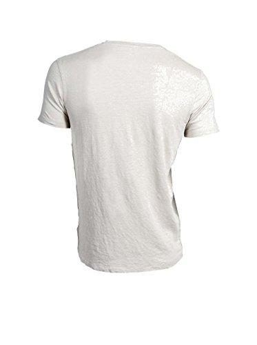 MAJESTIC Herren Kurzarmshirt aus Leinen in Beige 128 stone hand washed