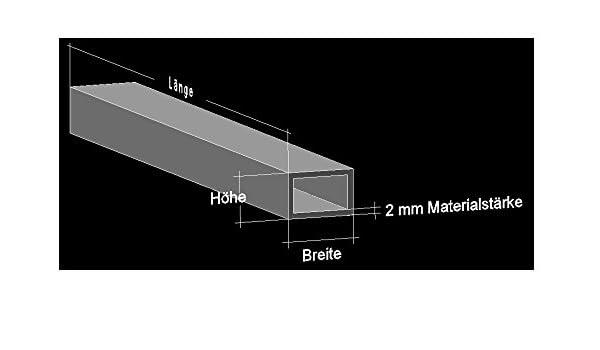 150 cm Alu U-Profil 40 x 20 x 40 x 2,0 mm Aluminium AlMgSi0,5 U-Stab Profil Aluprofil U-Stange