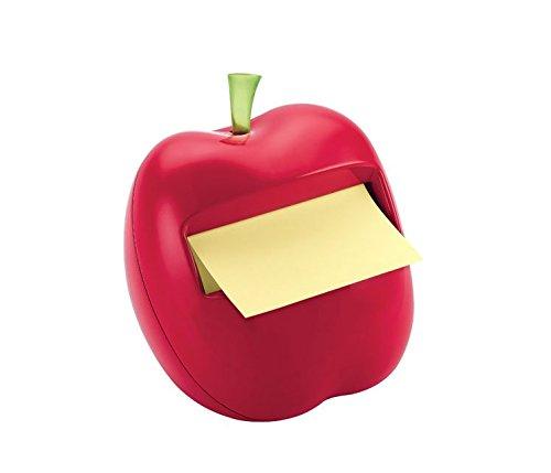 Upstudio - Dispensador de Notas Adhesivas en Forma de Manzana (Manzana, Rojo)
