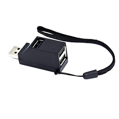 LouiseEvel215 Mini USB 2.0/3.0 Adaptador de hub de Divisor de hub de alta Velocidad USB para computadora de PC para discos duros portátiles