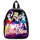 Custom Unisex Leather Teenager School bag(Zaini) Sailor Moon Printed Casual Travel Backpacks Large