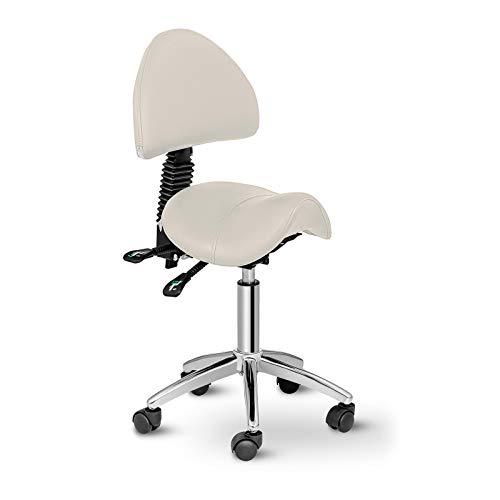 Physa Sattelstuhl Sattelhocker Bürostuhl Arbeitsstuhl Berlin BEIGE (beige, bis 150 kg, höhenverstellbar, neigbare Rückenlehne)