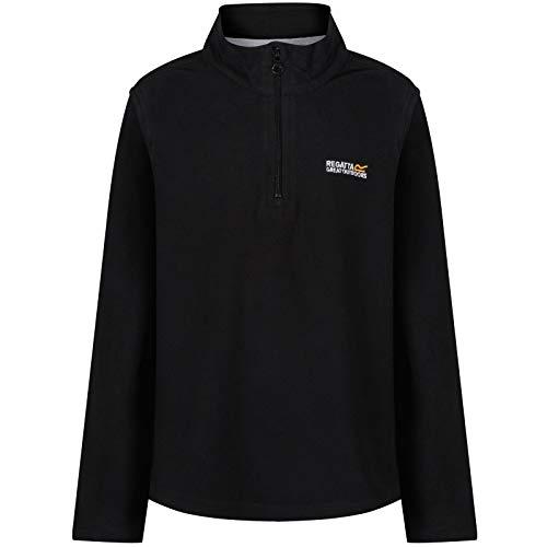 Regatta Hot Shot II Fleece Pullover Kinder Black/Black Größe EU 158 2019 Midlayer (Shot Hot Fleece)