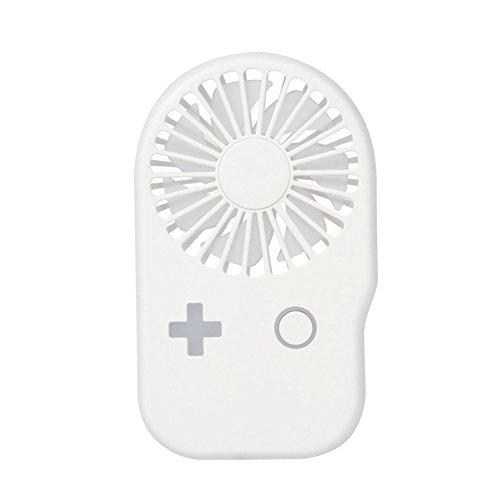 ❄RYTEJFES Tragbarer Taschenventilator USB mit 2 Geschwindigkeitsstufen, leise, wiederaufladbar, persönlicher Mini-Ventilator, 360 Grad drehbar, flexibel für Fitnessstudio, Büro, Reisen C weiß