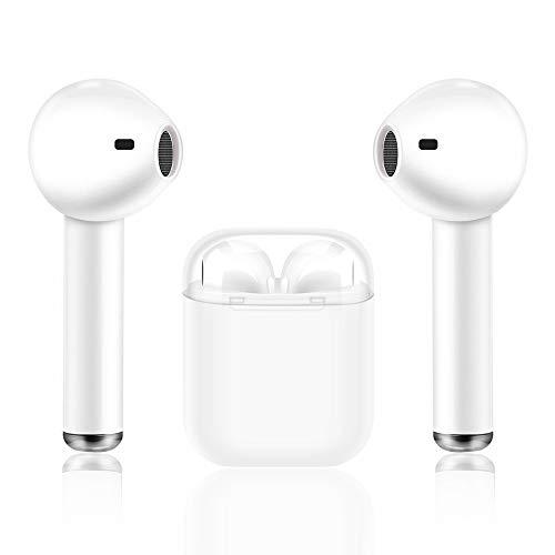 Auriculares estéreo Deportivos I8X TWS con Doble Auricular Bluetooth con reducción inalámbrica de Ruido, micrófono y Estuche de Carga para iPhone Samsung iPad