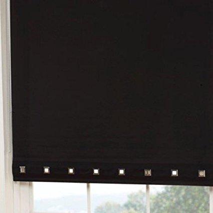 Emma Barclay Rollo mit quadratischen Ösen Detail, Polyester, Schwarz, 165x 60cm - Barclay Barclay 60