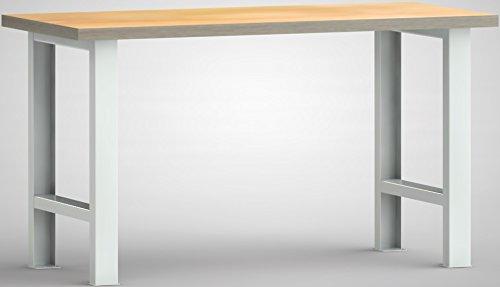 Metall-Meister Werkbank 2000x700x840 LxTxH ohne Ablageboden Modell WS500N-2000M40-X1581