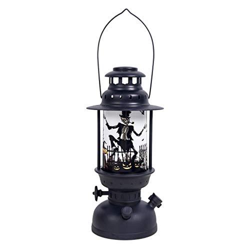 Altsommer Tragbares Halloween Windlicht, Halloween Kerze mit LED Tee Licht Kerzen für Halloween Deko Party - 1 Stück