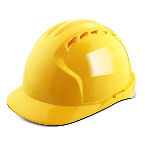 zm JH& Casco Regolabile con Ventole fresche, ANSI-Compliant, Dispositivi di Protezione Individuale per Edilizia, Lavori di Ristrutturazione E Progetti Fai-da-Te/PP (5 Colori) Hard Hatc