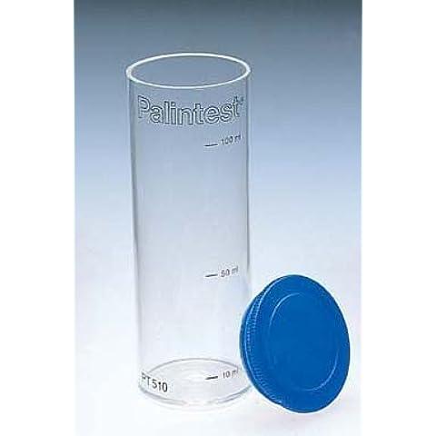 Palintest piscina agua de laboratorio Tubo de ensayo Contenedor de muestras de plástico con tapa