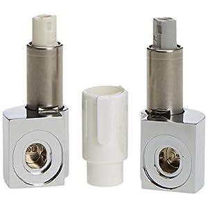 Conjunto de repuestos de bisagras con cierre suave para inodoro. Cromado. De Roca. AI0012400R.