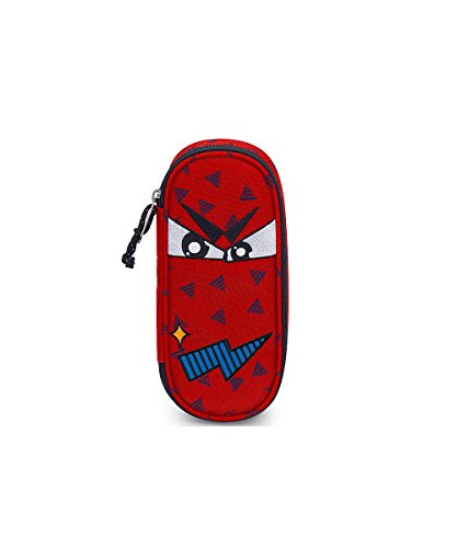 Portapenne invicta - lip pencil bag face - fiesta red rosso - porta penne scomparto interno attrezzato