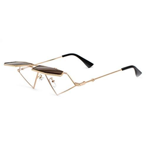 DAIYO Frauen Harajuku Stil Flip Sonnenbrille Hip Hop Retro dekorative Brille Rahmen Pop Brille Sonnenbrille