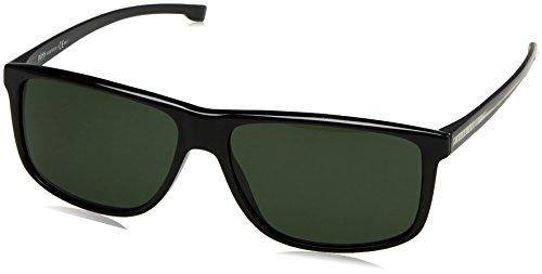 BOSS Hugo Herren 0875/S 85 YPP Sonnenbrille, Schwarz (Blackcrysblk/Grey Green), 60